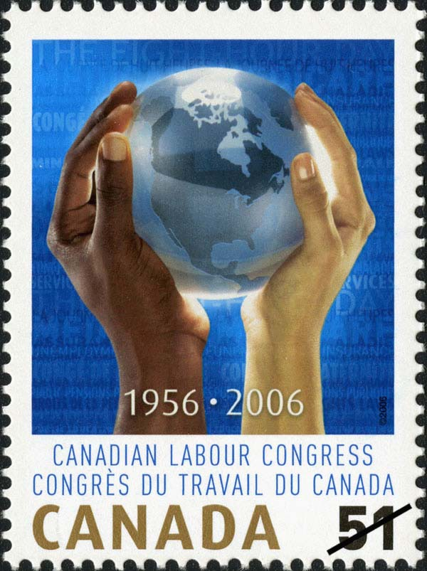 Canadian Labour Congress - 1956-2006 Canada Postage Stamp