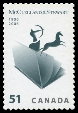 McClelland & Stewart - 1906-2006  Postage Stamp
