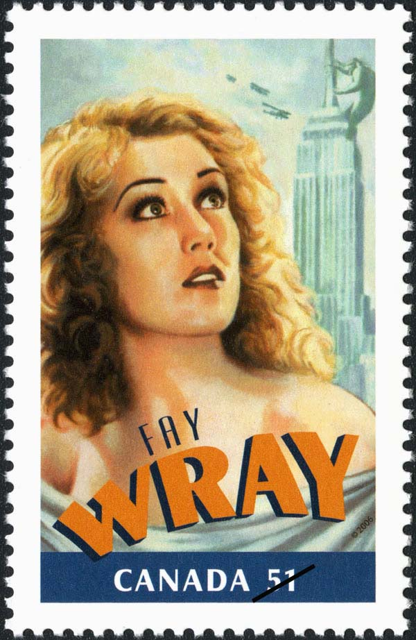 Fay Wray Canada Postage Stamp | Canadians in Hollywood
