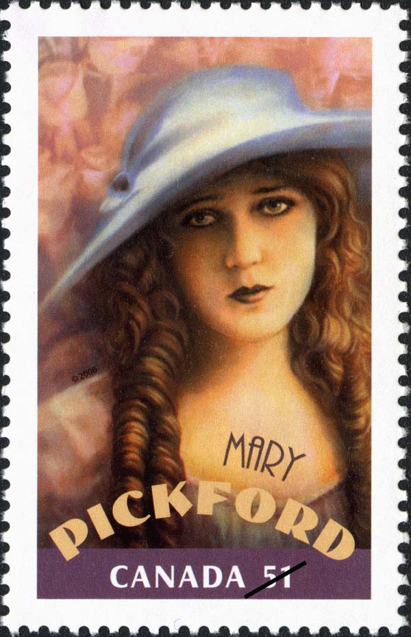Mary Pickford Canada Postage Stamp | Canadians in Hollywood