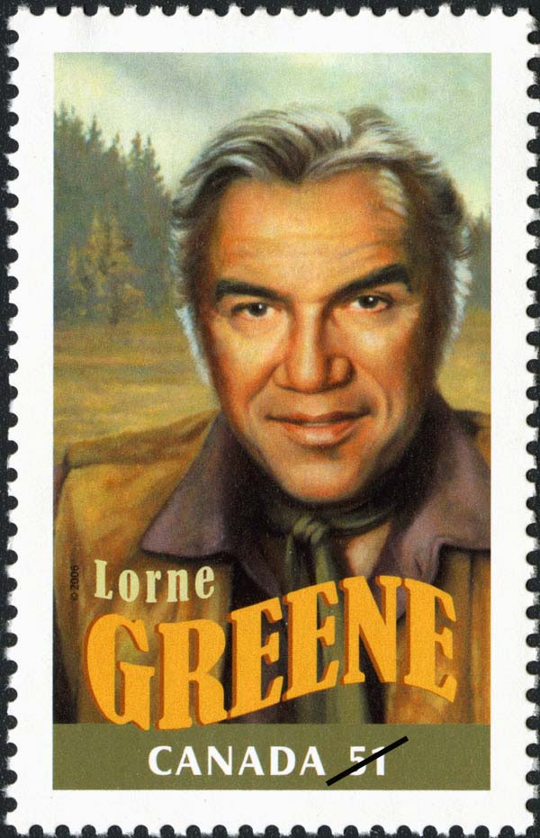 Lorne Greene Canada Postage Stamp | Canadians in Hollywood