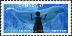 Vancouver Aquarium, 1956-2006 Canada Postage Stamp