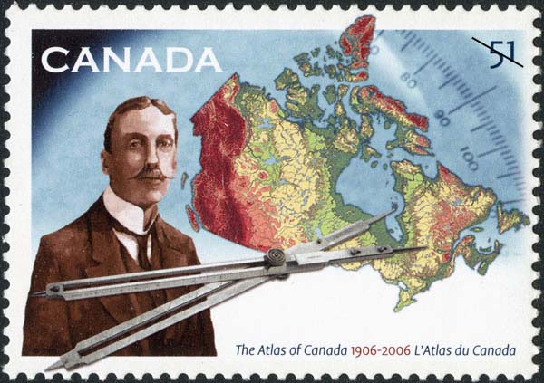 The Atlas of Canada - 1906-2006 Canada Postage Stamp