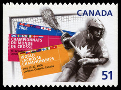 World Lacrosse Championships Canada Postage Stamp