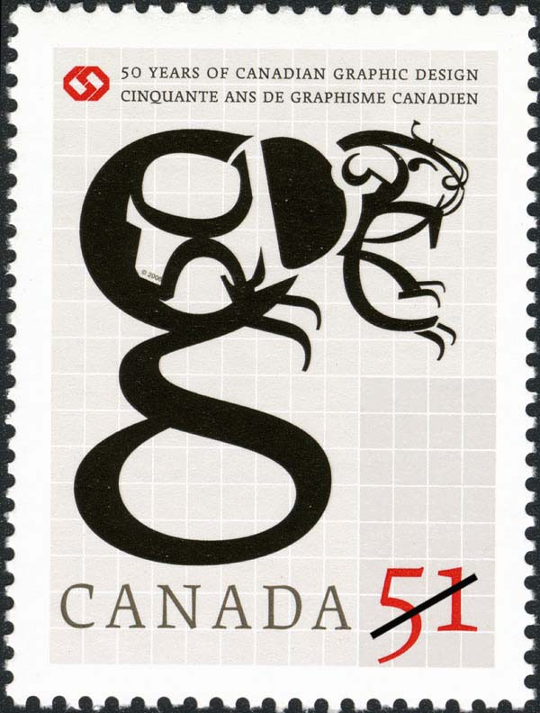 50 years of Canadian graphic design Canada Postage Stamp