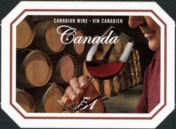Barrel cellar with a taster sampling wares Canada Postage Stamp | Wine and cheese