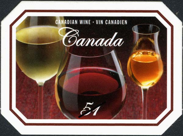 Canadian wine products Canada Postage Stamp | Wine and cheese