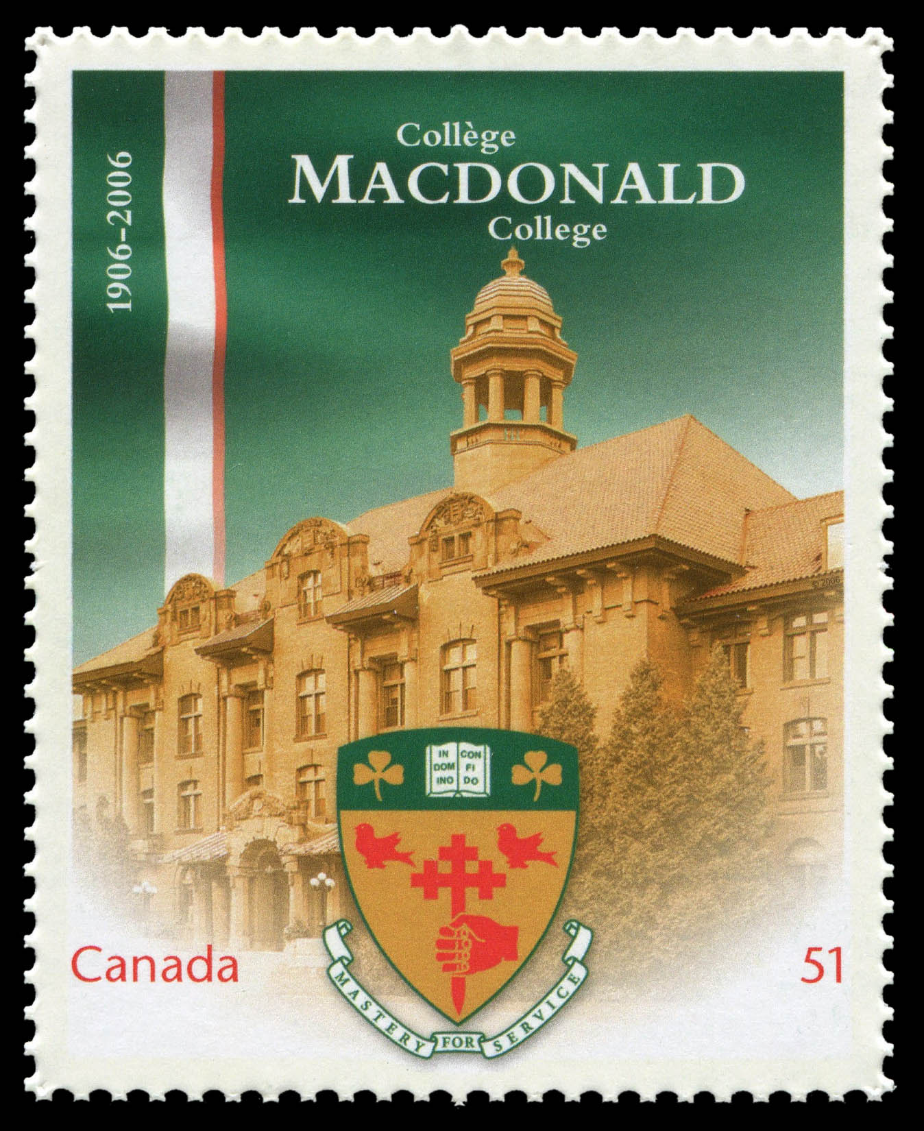 Macdonald College, 1906-2006 Canada Postage Stamp | Canadian Universities