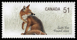 Swift fox Canada Postage Stamp | Endangered Species