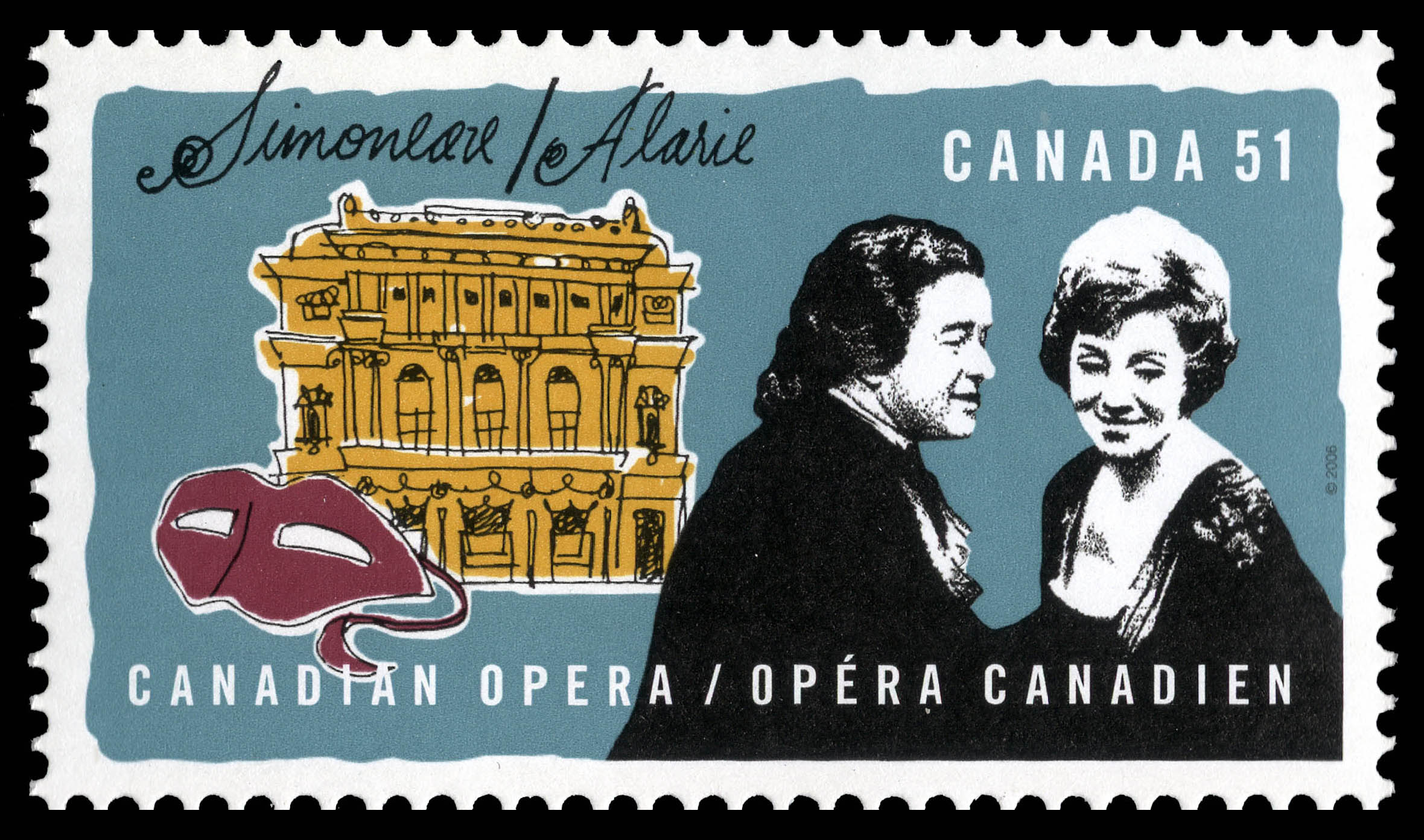 Simoneau and Alarie Canada Postage Stamp | Canadian opera