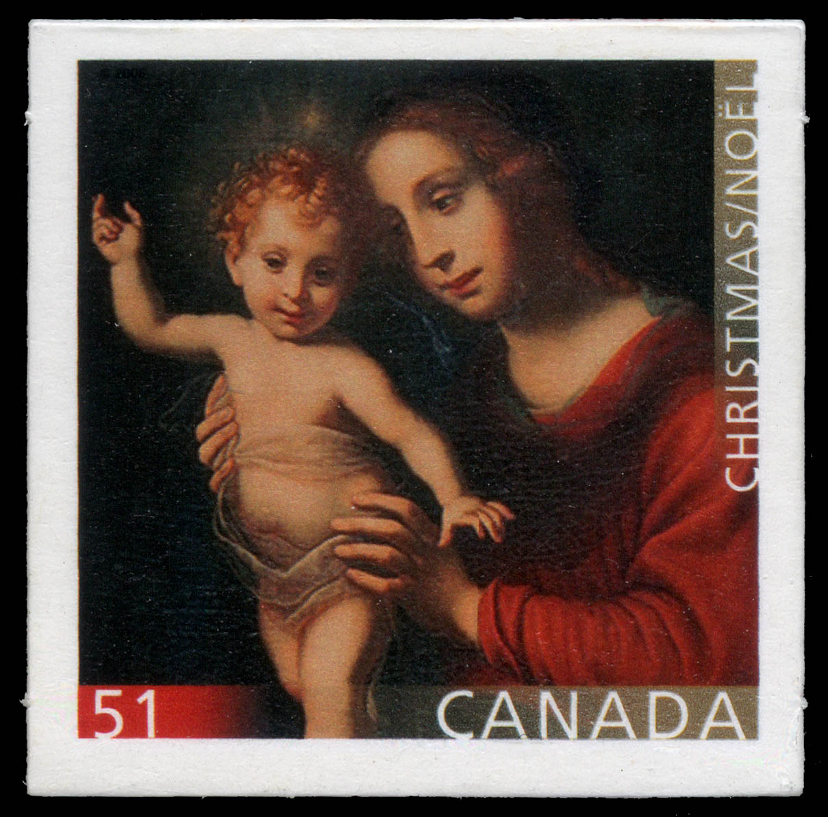 Madonna and Child Canada Postage Stamp | Christmas