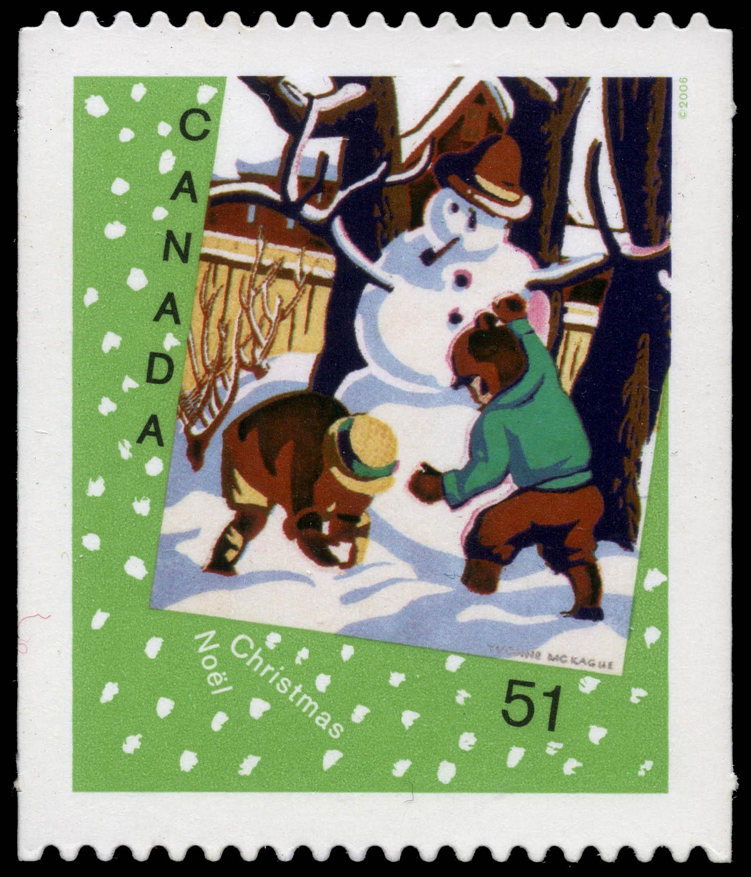 Snowman Canada Postage Stamp | Christmas : Christmas cards