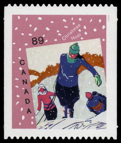 Winter Joys  Postage Stamp