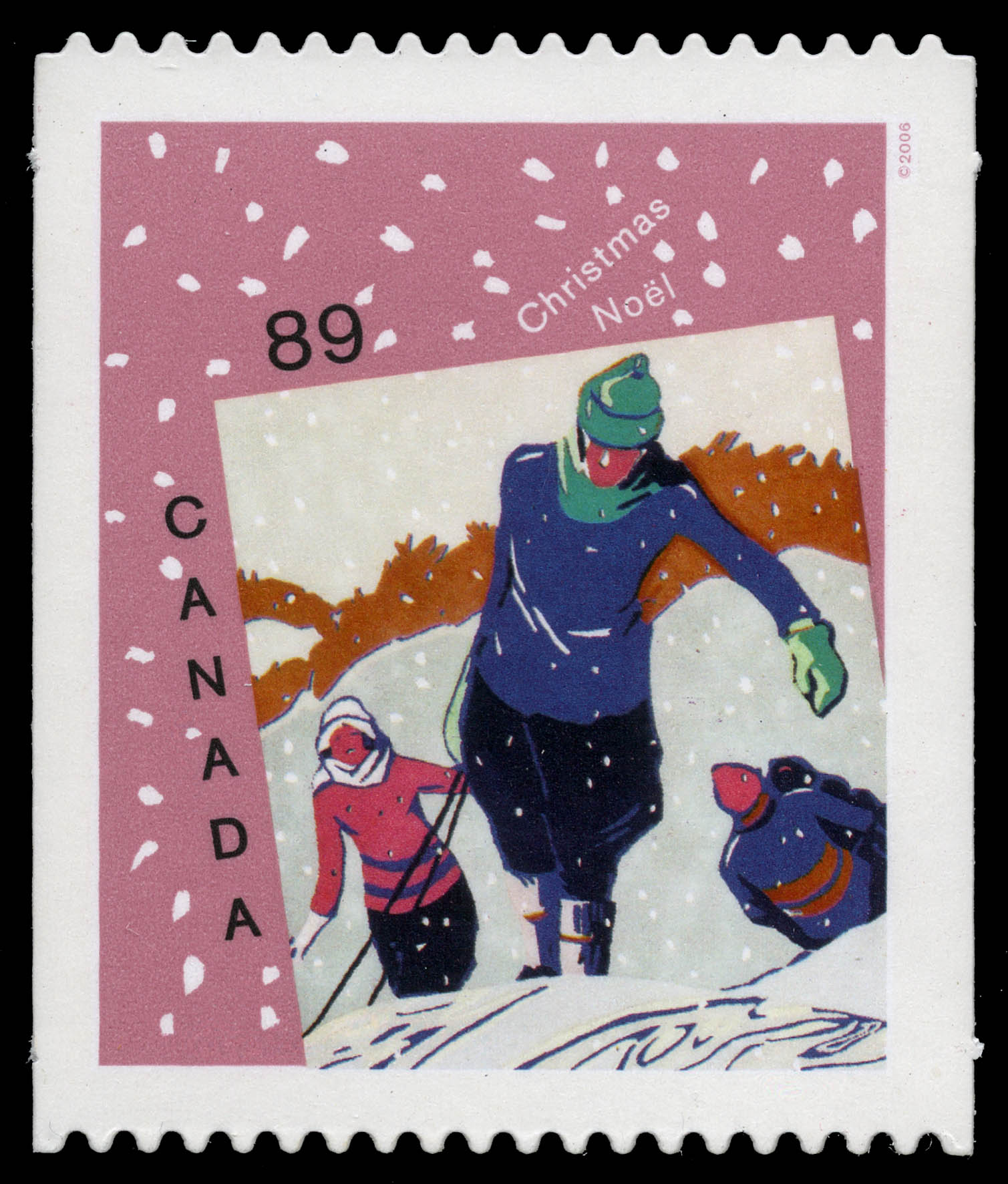 Winter Joys Canada Postage Stamp | Christmas : Christmas cards
