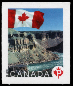 Tuktut Nogait National Park, Northwest Territories Canada Postage Stamp | Flag