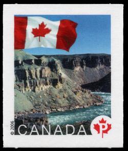 Tuktut Nogait National Park, Northwest Territories Canada Postage Stamp | Flag