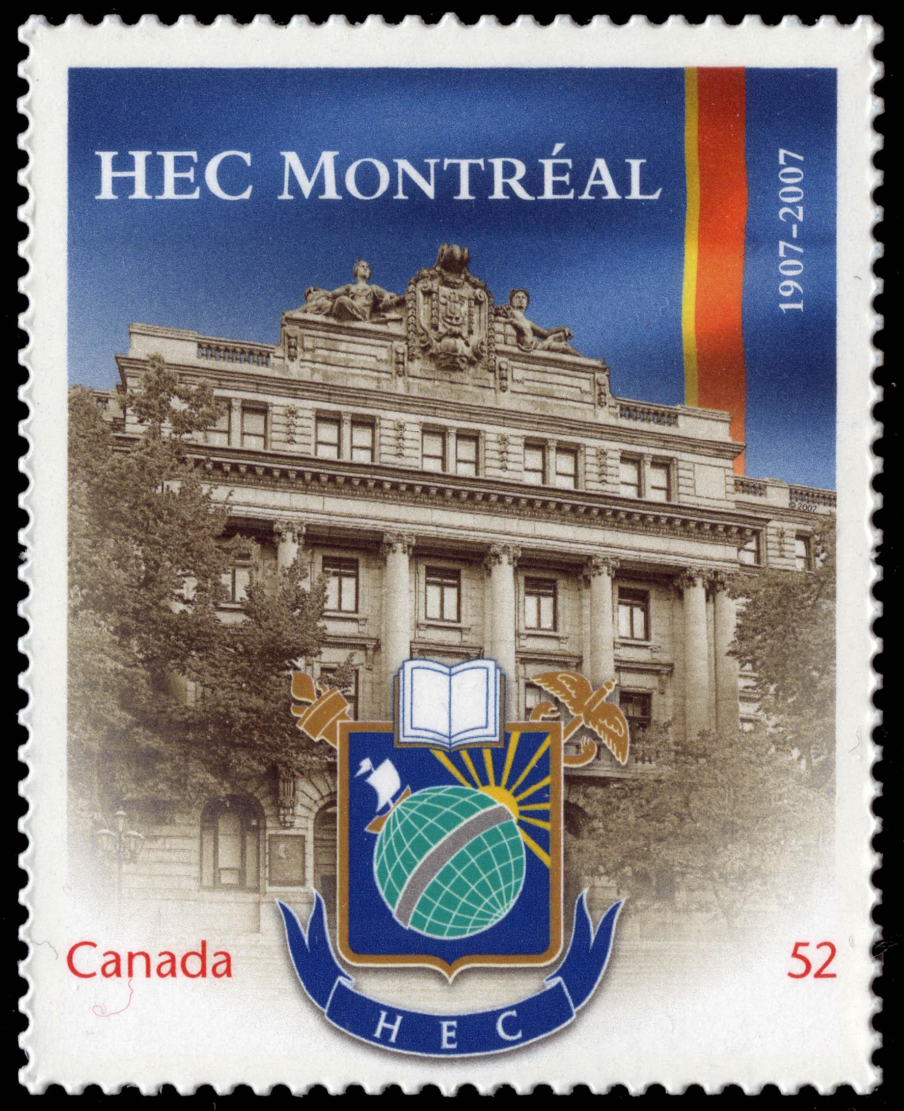 HEC Montreal - 1907-2007 Canada Postage Stamp | Canadian Universities