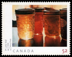 Jelly Shelf - Mary Pratt Canada Postage Stamp | Art Canada