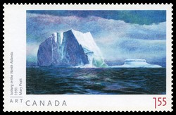 Iceberg in the North Atlantic - Mary Pratt Canada Postage Stamp | Art Canada