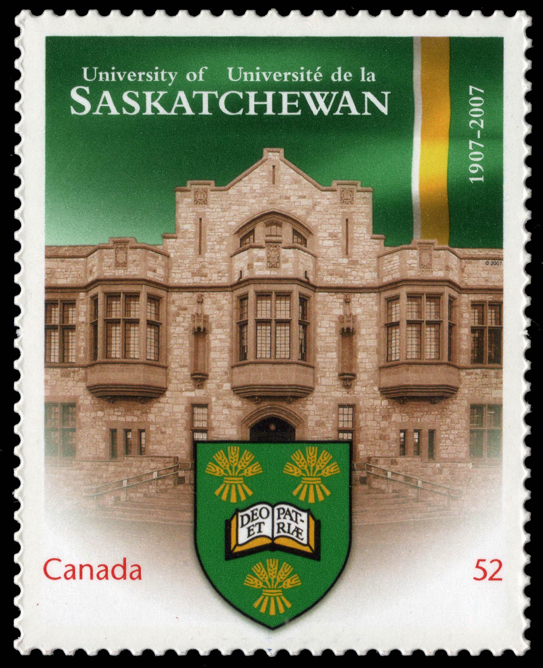 University of Saskatchewan - 1907-2007 Canada Postage Stamp | Canadian Universities