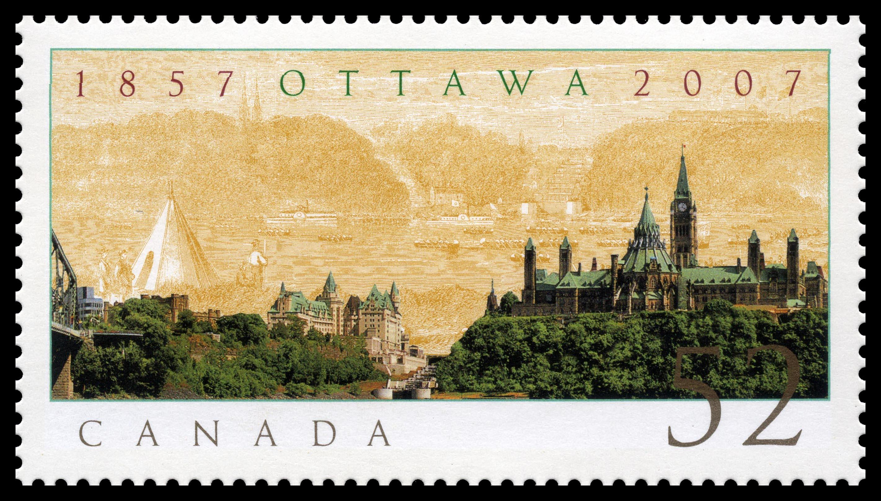 Ottawa - 1857-2007 Canada Postage Stamp