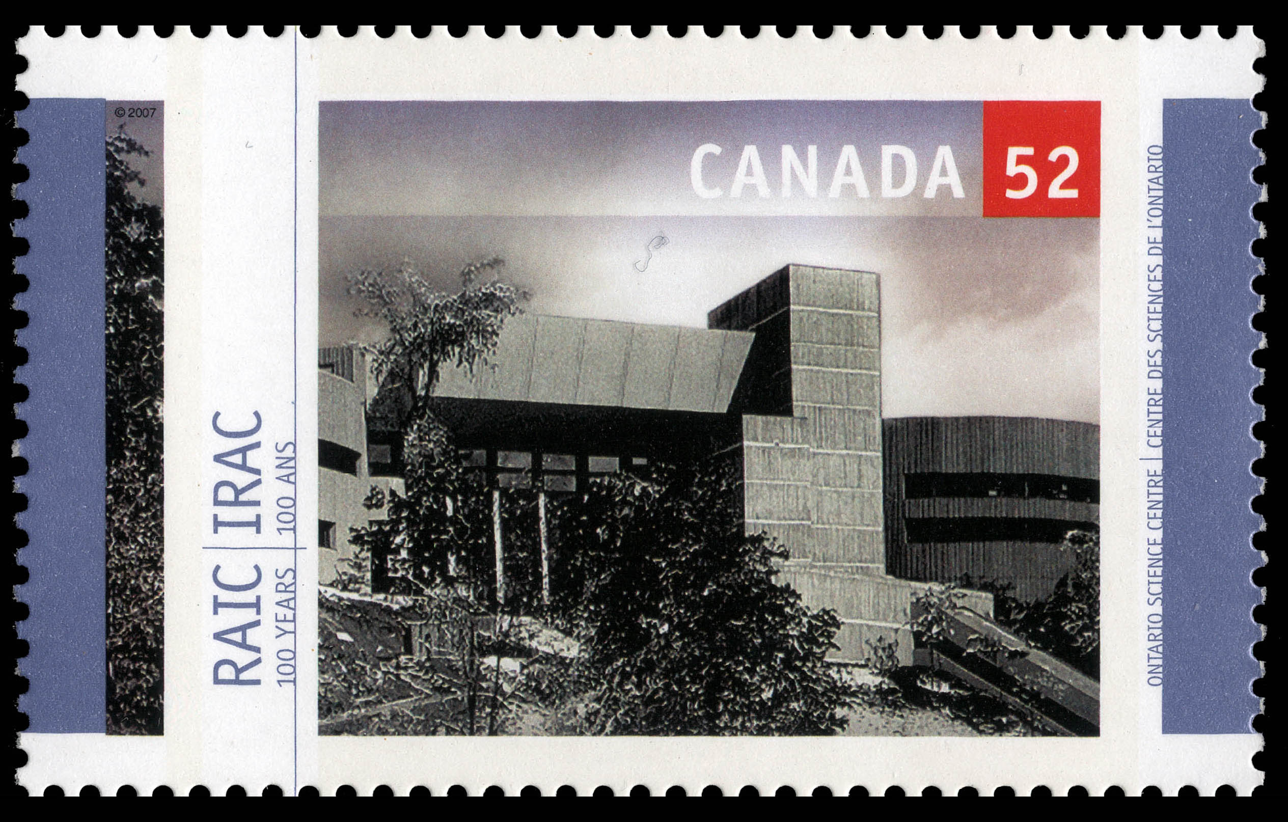 Ontario Science Centre Canada Postage Stamp | Royal Architectural Institute of Canada, 100 Years