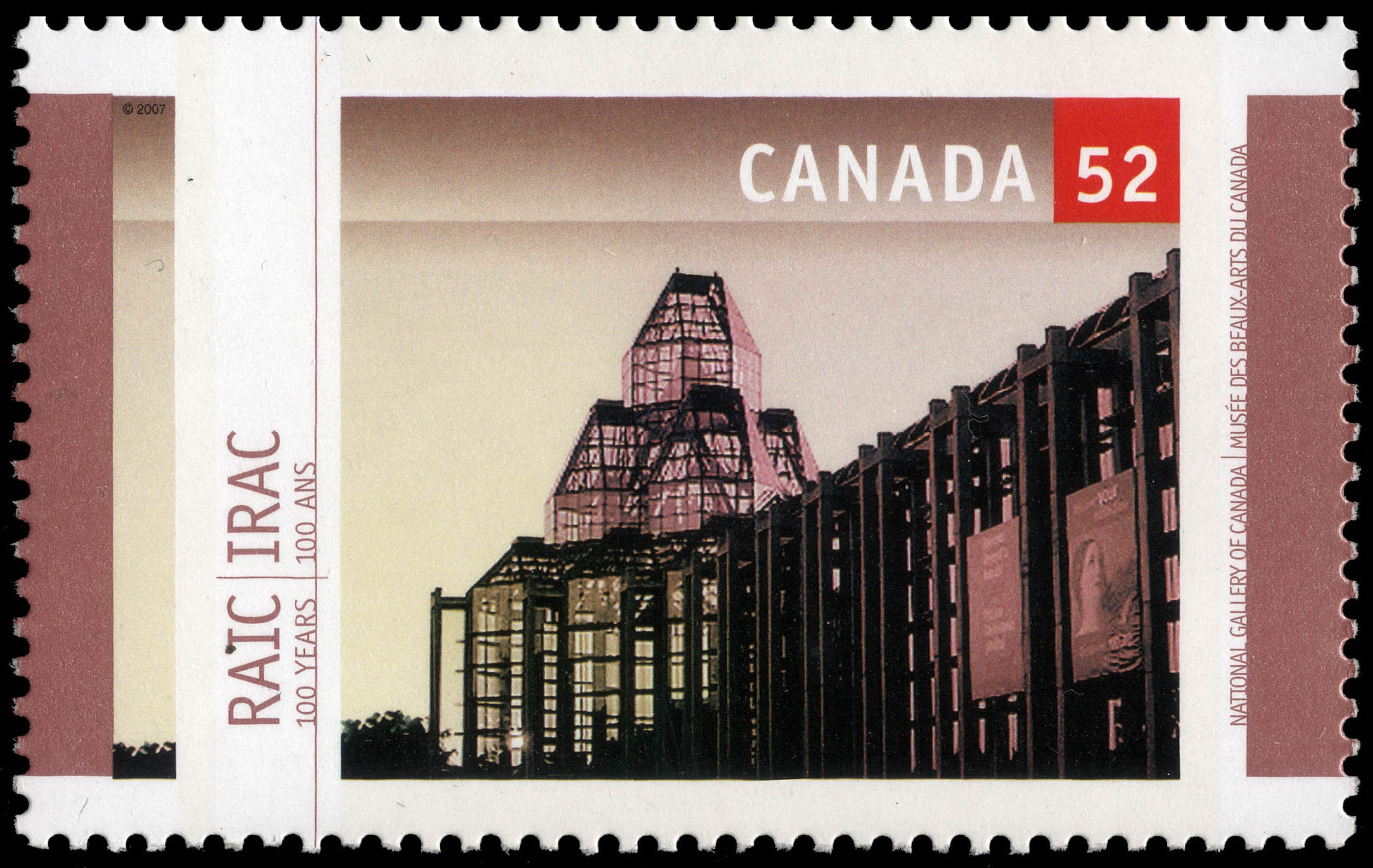 National Gallery of Canada Canada Postage Stamp | Royal Architectural Institute of Canada, 100 Years