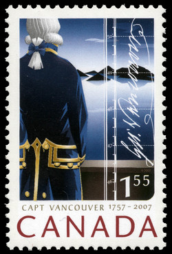 Captain Vancouver - 1757-2007 Canada Postage Stamp