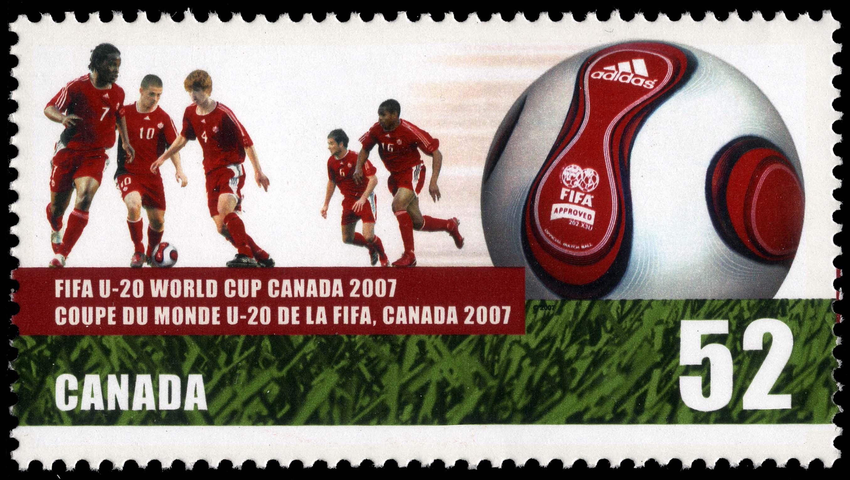 FIFA U-20 World Cup Canada 2007 Canada Postage Stamp