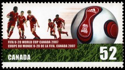 FIFA U-20 World Cup Canada 2007 Canada Postage Stamp