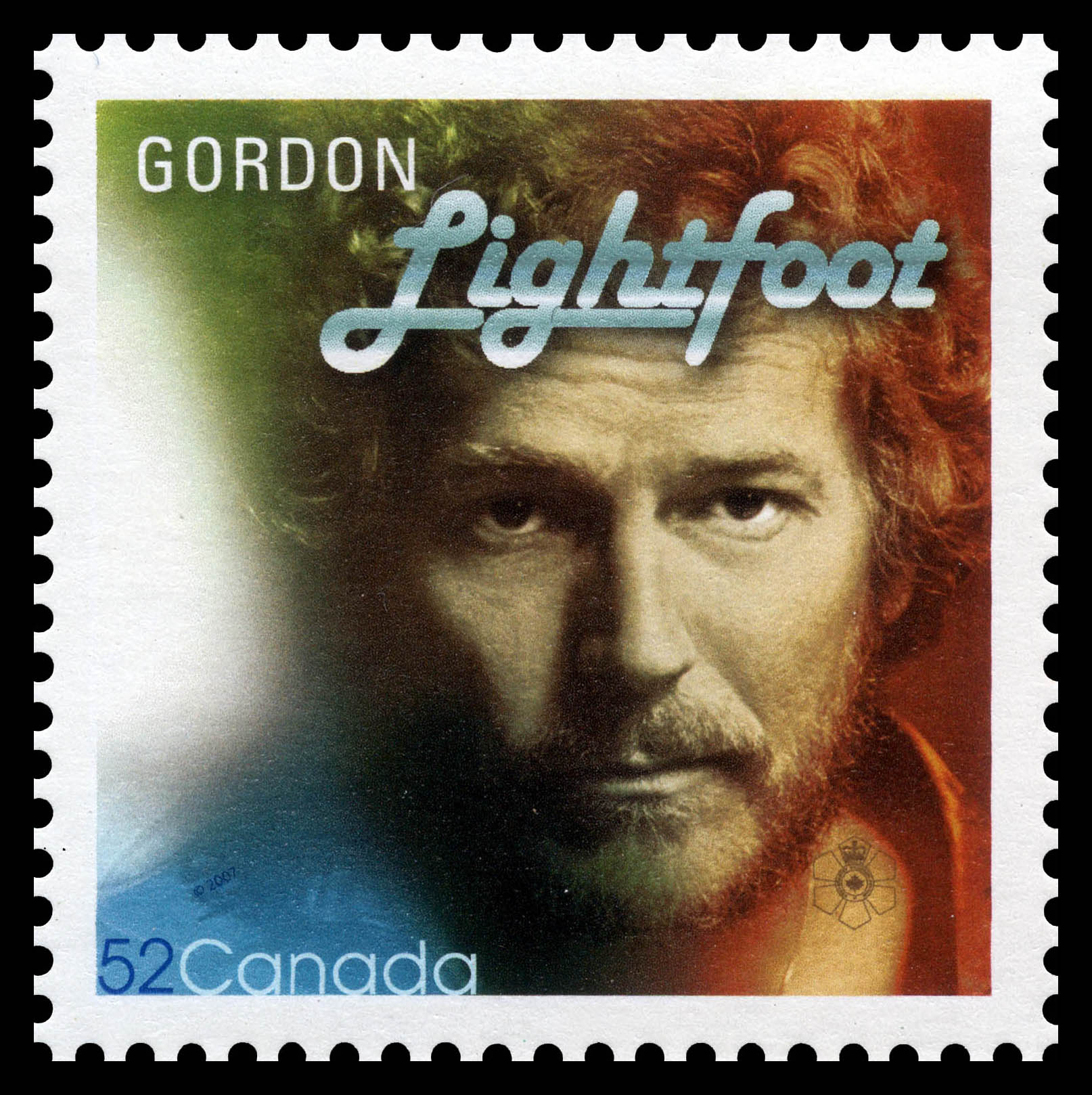 Gordon Lightfoot Canada Postage Stamp | Canadian Recording Artists