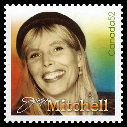 Joni Mitchell Canada Postage Stamp | Canadian Recording Artists