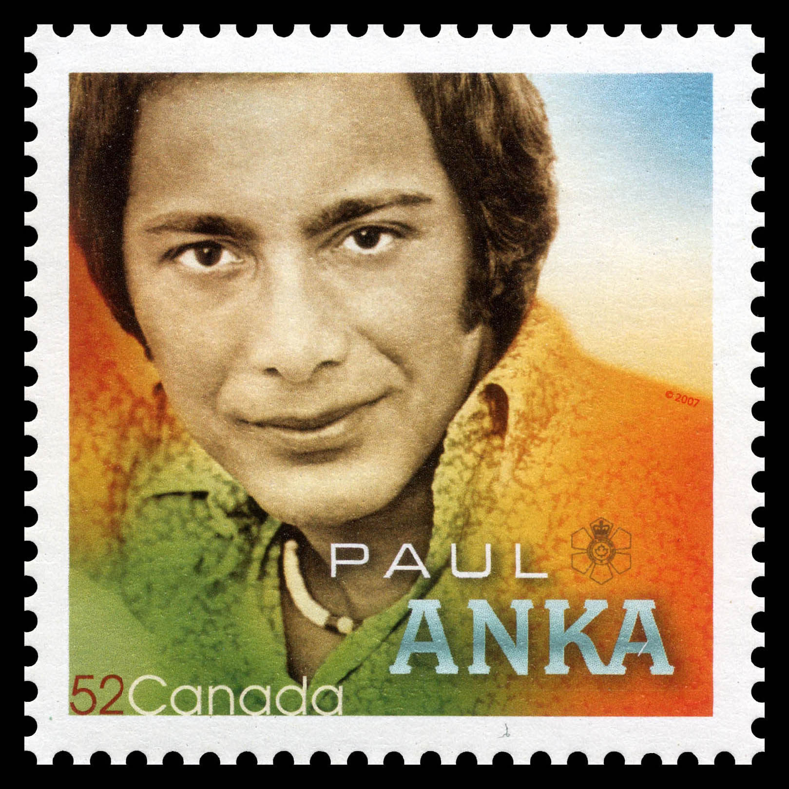 Paul Anka Canada Postage Stamp | Canadian Recording Artists