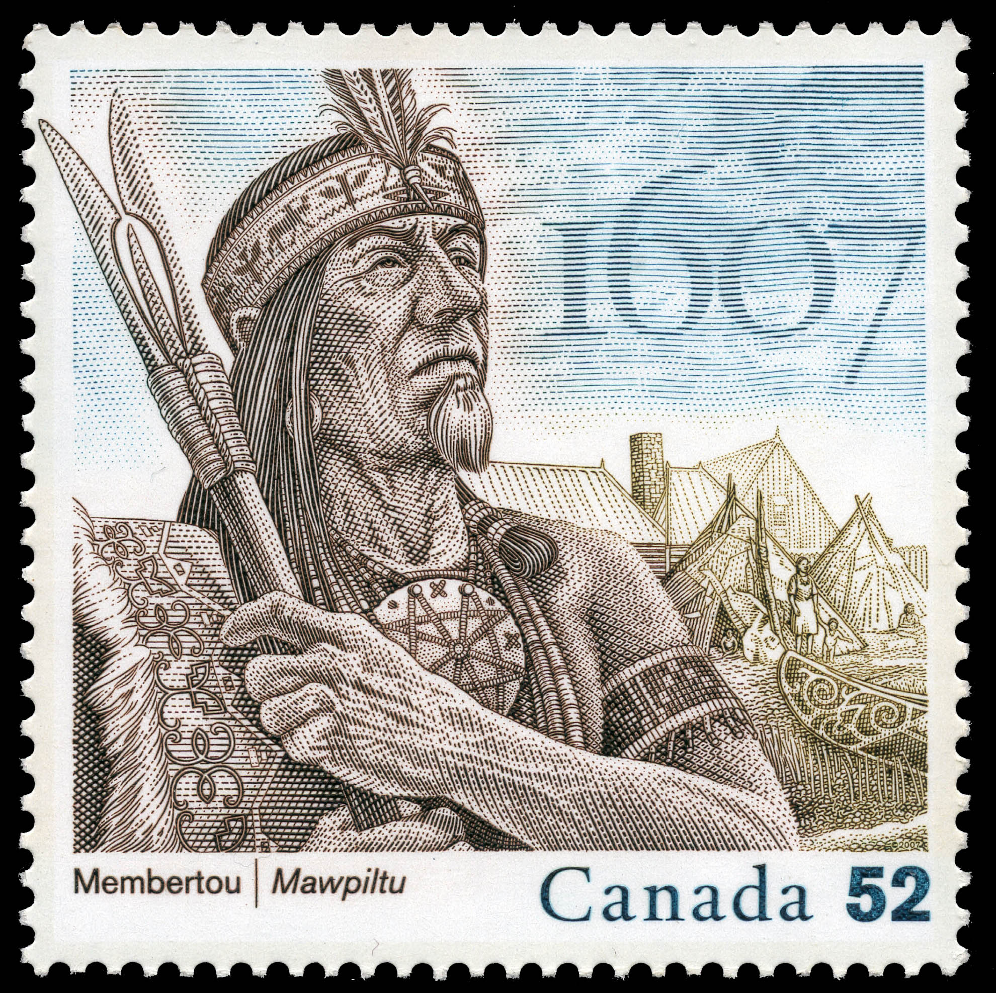 Membertou - 1607 Canada Postage Stamp