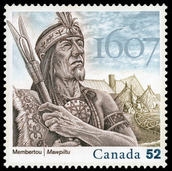 Membertou - 1607 Canada Postage Stamp | French settlements in North America