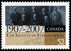 Law Society of Saskatchewan - 1907-2007 Canada Postage Stamp