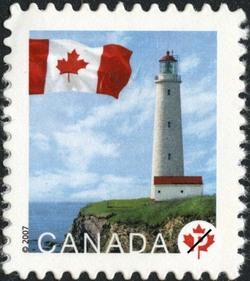 Cap-des-Rosiers, Quebec Canada Postage Stamp | Flag, Lighthouses