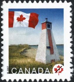 Warren Landing, Manitoba Canada Postage Stamp | Flag, Lighthouses