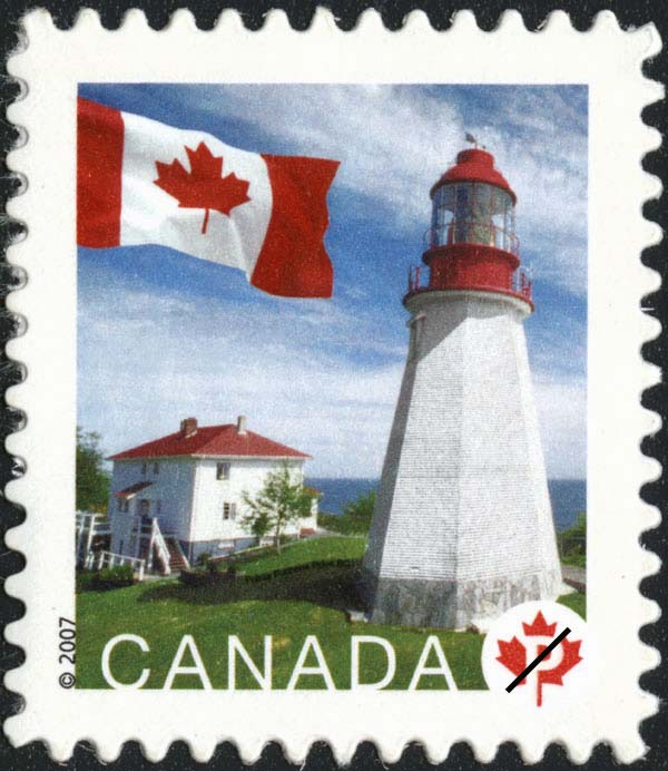 Pachena Point, British Columbia Canada Postage Stamp | Flag, Lighthouses