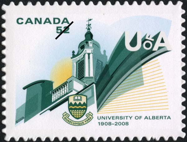 University of Alberta - 1908-2008 Canada Postage Stamp | Canadian Universities