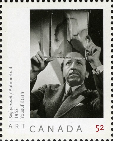 Self-portrait - Yousuf Karsh Canada Postage Stamp | Art Canada