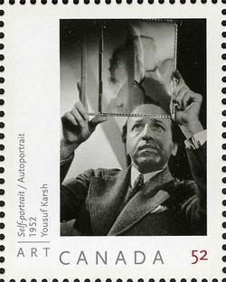Self-portrait - Yousuf Karsh Canada Postage Stamp | Art Canada