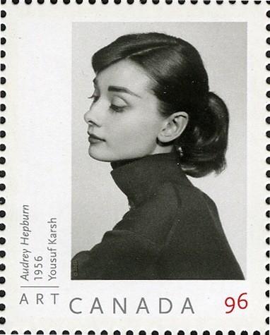 Audrey Hepburn - Yousuf Karsh Canada Postage Stamp | Art Canada