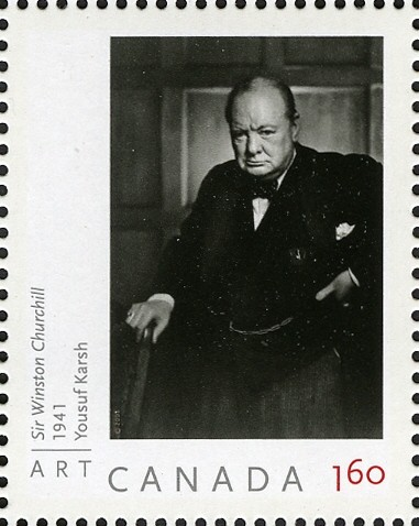 Sir Winston Churchill - Yousuf Karsh Canada Postage Stamp | Art Canada