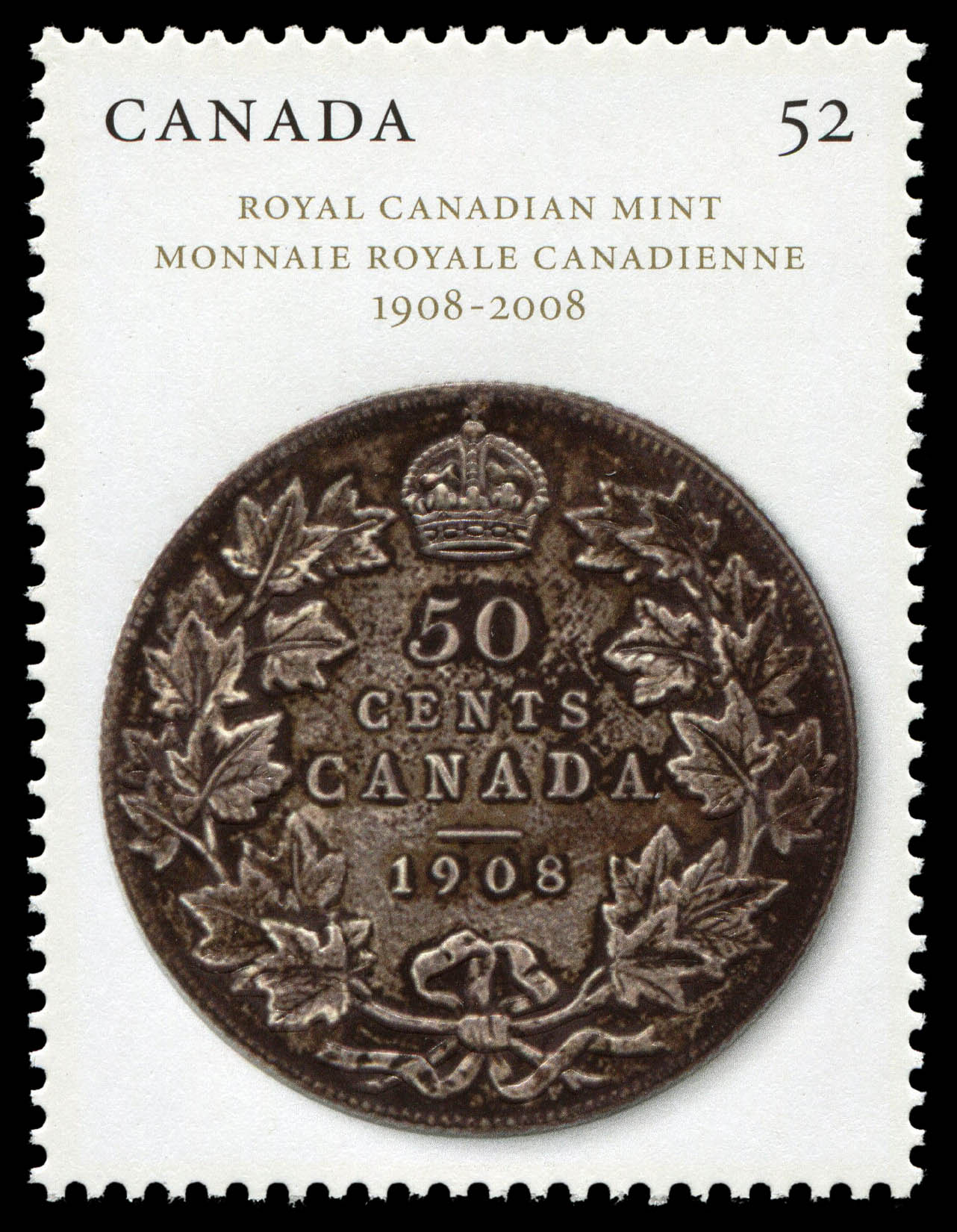 Royal Canadian Mint - 1908-2008 Canada Postage Stamp
