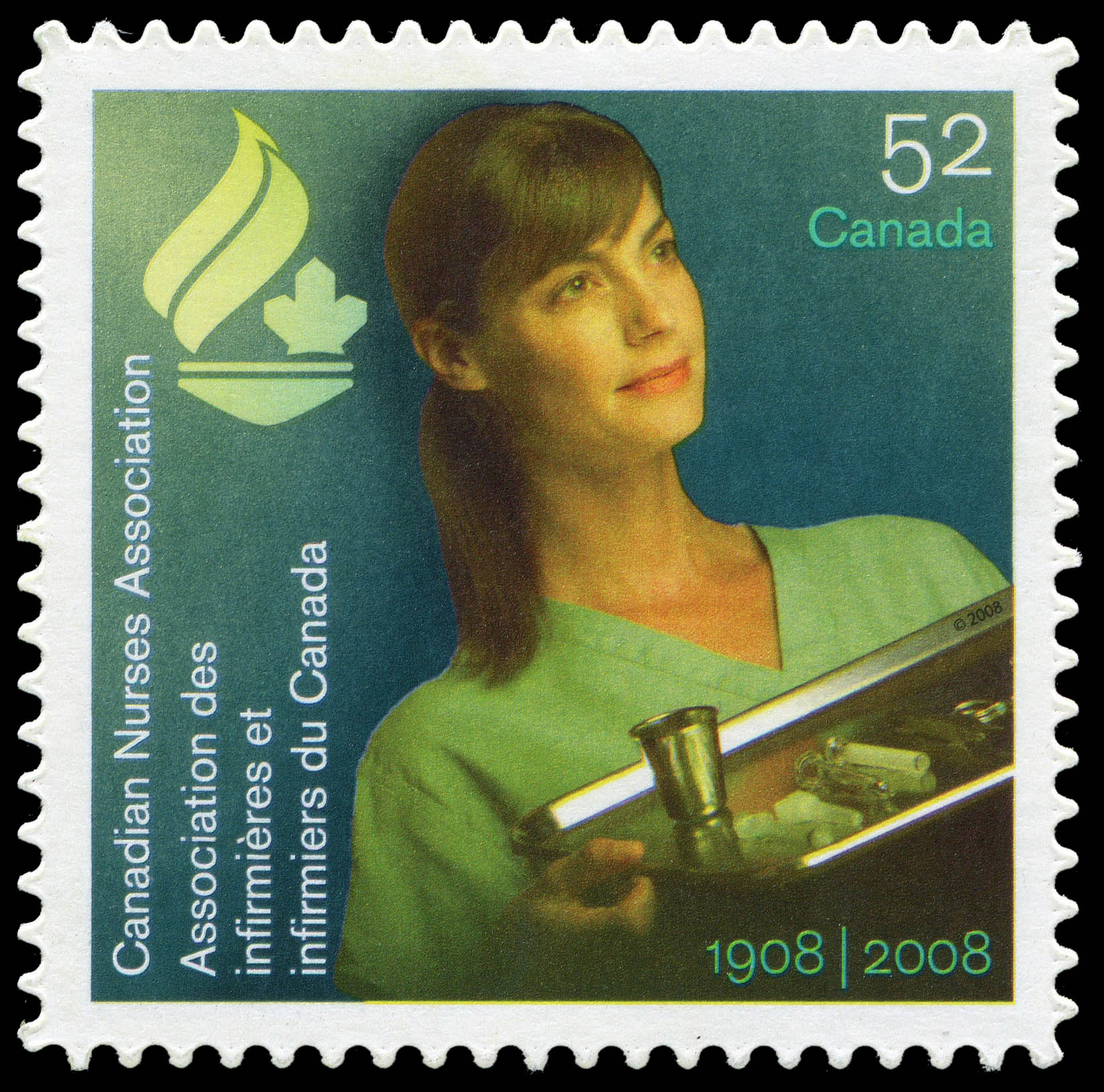 Canadian Nurses Association - 1908-2008 Canada Postage Stamp