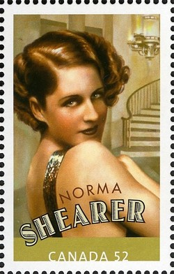 Norma Shearer Canada Postage Stamp | Canadians in Hollywood