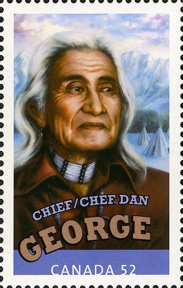 Chief Dan George Canada Postage Stamp   Canadians in Hollywood