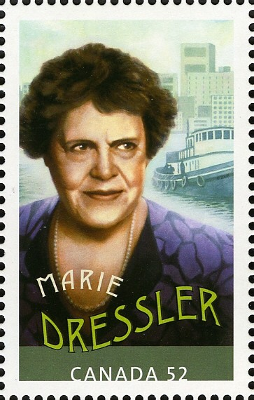 Marie Dressler Canada Postage Stamp | Canadians in Hollywood