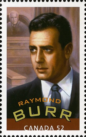 Raymond Burr Canada Postage Stamp | Canadians in Hollywood